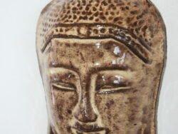 Tibetische Maske beige